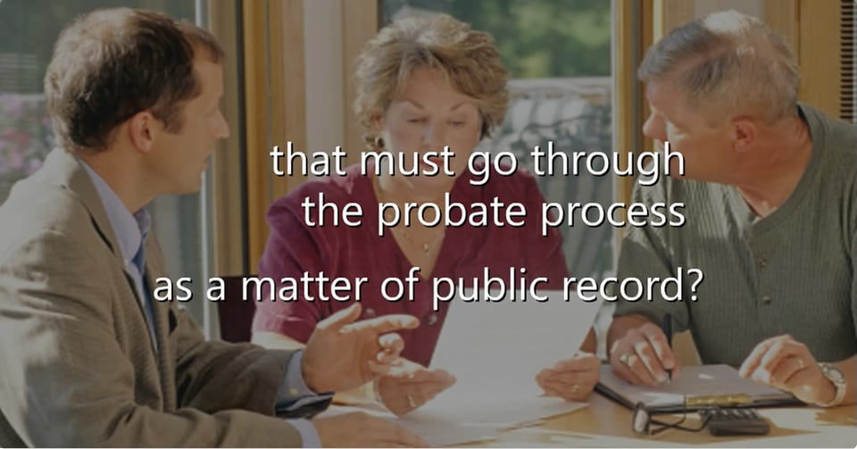 Learn How You Can Avoid the Cost Delay and Public Record of Probate